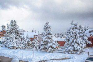neige à Pyrénées 2000 Font Romeu
