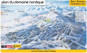 plan ski de fond Font Romeu
