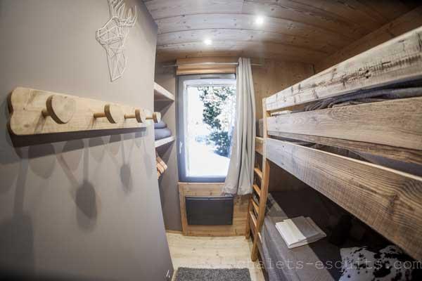 lits superposés du chalet Nest Pyrénées 2000
