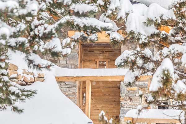 porte d'entrée du chalet Nest Pyrénées 2000